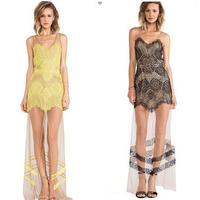 XDF109A# 2015 Summer New Fashion Women Lace Dress Sexy Party Dresses Maxi Dress Vestidos Femininos