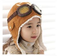 2014 winter Boys and girls lovely warm hat aviator hat for children NZ007