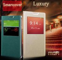 redmi note smart Case xiaomi redmi note Leather Flip case luxury Mofi case leather cover sleep/wake up 5.5'  + 1screen protector