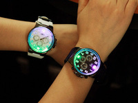 Wholesale 100pcs/lot New Personality Luminous LED Watches Fashion Glow In Night Watch Gifts For Lovers Factory Direct Price