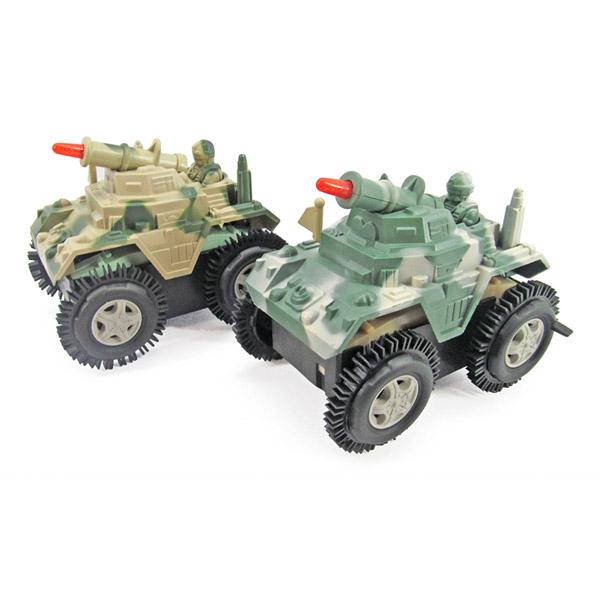 Aydınlatma mücadele yuvarlanan deposu oyuncak asker ordusu kamyon