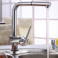 Single Handle Pull Out Kitchen Sink Faucet 0477