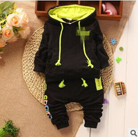 New Arrival Baby Suits 2014 Autumn Sports Girls Boys Brand Suits Kids Cotton Hooded Sweater+Pants Suits Newborn babies Clothing