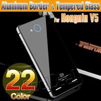 22 Color,Aluminum Border & Toughened Glass Back Cover Case For ZTE U9180 Red Bull Hongniu V5 Luxury Mobile Phone Battery Cover