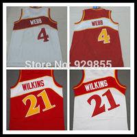 throwback jerseys Toronto  Spud Webb Jersey #4 retro Basketball Jersey top quality