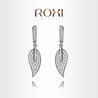 ROXI brand New arrival,delicate Hanging leaves Earrings,FREE SHIPPING, Fine workmanship,2020021128