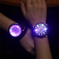 Free Shipping 20pcs/lot New 3D Number Luminous LED Watches Fashion Glow In Night Watch Gifts For Lovers Factory Direct Price