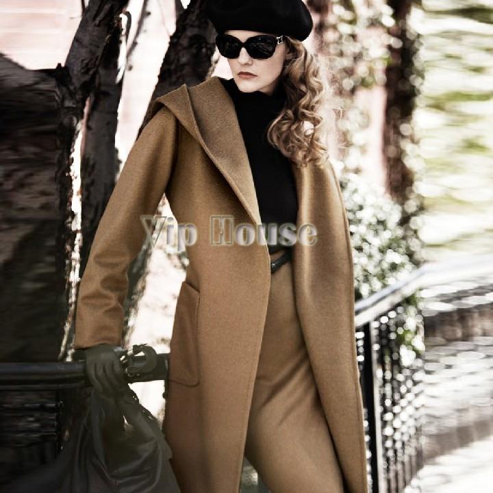 2014 Fashion Down & Parka Womens Trench European Lapel Collar Trench Coat Gray, Camel, Black Women Winter Coat SV19(China (Mainland))