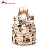 Large capacity backpack travel backpack sweet gentlewomen preppy style canvas bag student school bag