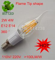 10x New 2W 4W E14 E12 220V 110V LED Candle Bulbs ceramic corn LED Filaments bulbs lamps