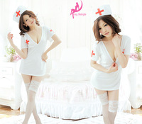 Freeshipping DLTrailer Sexy Lingerie Nurse Suit