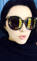 Ks ! sexy leopard print gold vintage sunglasses repair sun glasses
