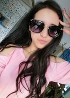 Ks mm classic personality vintage oversized cat-eye face-lift vintage sunglasses