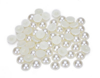 1000pcs/lot beige 6mm Craft ABS Half Round Pearls Flatback Cabochon Beads Jewelry DIY Decoration
