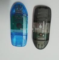 2pcs/lots free shipping USB 2.0 SDHC SD Card Reader Adapter For PC Laptop Phone Digital Camera