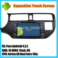 Android 4.2 Dual Core KIA Rio K3 2013 Car DVD Player 8inch Capacitive Touchscreen GPS Radio+USB+Ipod+Bluetooth+WIFI+Map+Micphone