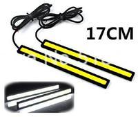 High Power New 12V Daylight 12W COB Car LED DRL Waterproof Bumper Decorative Sticker Daytime Running Light Led