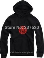 Free shipping Winter/Autumn Fleece hoodies Red Skull logo hoodies HYDRA sweatshirts The Avengers American Captain hoodie 8 color