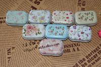 New sale!free shipping 8pcs different style high quality mini Tin Storage box/ jewelry Box/ Multi-purpose Storage Case