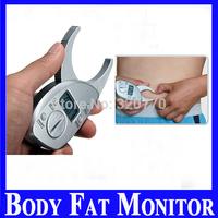 Digital LCD Body Fat Caliper Skin Fold caliper Fat Measurement Thickness 50mm 2inch Range Body Fat Monitors body fat Tester