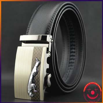 2015 men's belt genuine leather belts new arrive leopard buckle buckle belt for men(China (Mainland))