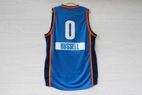 2014 -15 christmas day Oklahoma City #0 Russell Westbrook Men's basketball jersey blue