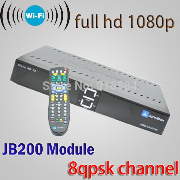 2 pcs fta hd receiver jynxbox ultra hd v3 fta satellite receiver america hot sex video digital satellite finder Wifi usb dongle(China (Mainland))