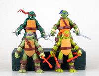Retail!New 2014 Boys Toy Teenage Mutant Ninja Turtles Model Toys 4pc/Lot Kids Cartoon Doll Education Toys Electric JuguetesKT075