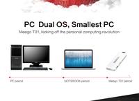 MeegoPad T01 Intel Stick Android & Windows 8 System Double OS 64 Bit CPU Intel 2G RAM 32GB Storage Box Mini PC