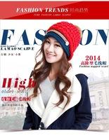 Skullies Beanies hats for women winter  bucket cap women hat with ears beanie  knitted  wool hat free shipping