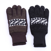 Nice 2015 Glove winter warm ladies gloves Pig Leather Female Mittens Knitted Acrylic Glove Free Shipping!