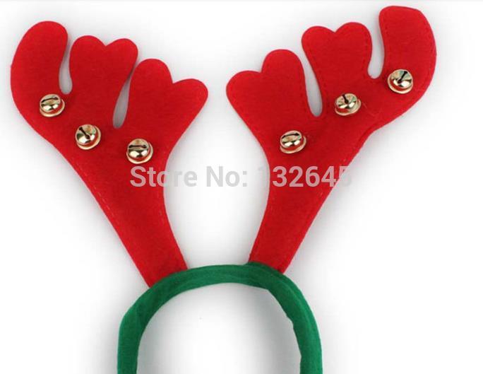 Free postage Christmas deer antlers head buckle hair accessories / hair bands(China (Mainland))