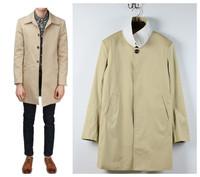 THOMs  Brow Brand Stylish Outdoors Men Jacket casual Coats Windbreaker Overcoat Collar long coat windbreaker jacket