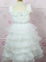 Children dress, flower girl dress, baby princess dress, white dress Melaleuca, in stock