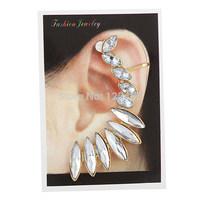 2015 New 1PC New Fashion Women Punk Luxury Gold Tone Earring Crystal Ear Cuff  Stud Earrings for Women Jewelry