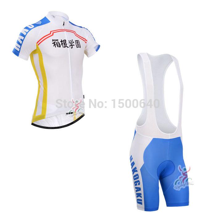 2014 anime japonês Hakone academia ciclismo bicicleta confortável Jersey curto Set camisa para bib shorts vestuário para homem GC38(China (Mainland))