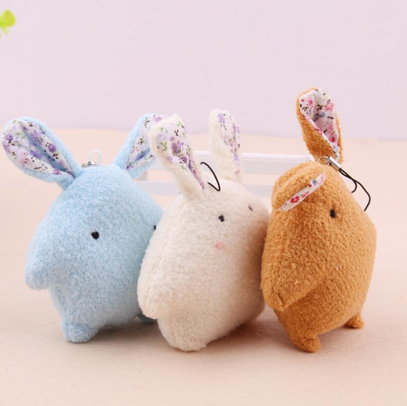 Cartoon Bouquet Doll Plush Rabbit Mobile Phone Pendant Plush Toy Doll Gift Wedding Favors Cute Dolls(China (Mainland))