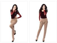 2014 winter new explosion models plus thick velvet harem pants female Korean yards stretch micro casual long pants