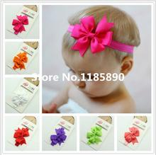 Christmas Gifts Baby Bow Headband Hair Bowknot Headbands Infant Hair Accessories Girls Bow Headband Toddler hair bands(China (Mainland))