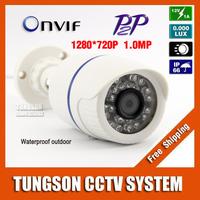 1280*720P Security Surveillance 1.0MP Mini Bullet Network CCTV IP Camera ONVIF Waterproof Outdoor IR CUT Night Vision P2P
