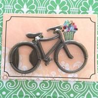 New Arrive 100PCS/LOT  vintage bicycle wine opener wedding favor guest gift