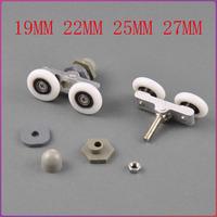 8шт душевая дверь роликовых бегунков, можете выбрать колеса пластиковый шкив диаметром 23 мм 25 мм