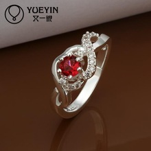 2014 SALE joias 925 silvering ruby wedding Austrian Crystal CZ Simulated Diamonds ring new design for lady