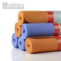 TPE Yoga mat TPE Yoga Mat 3mm Environmental Health authentic Senior Professional Pad No Slip Mat  High Quality Free shipping