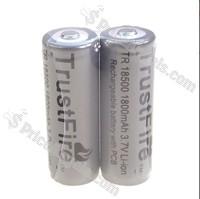 2 PCS Trustfire 18500 1800mAh 3.7V Li-ion Protected Battery