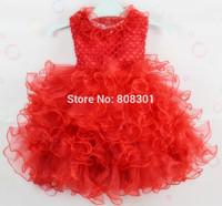 Christmas baby girl tutu dress flower girl princess dress infant Jacadi prombaby  Party dresses