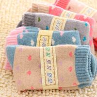 Autumn & Winter Keep Warm Women Thicken Wool Socks High Quality Wool Socks With Cute Print
