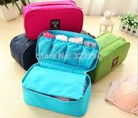 EVA Travel bra bag in white and pink flower, bra case lingerie underwear storage best gift for your girlfriend