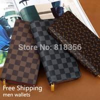 Free Shipping new 2014 men wallets famous brand mens long thin wallet male money purses thin long wallet