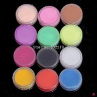 New Fashion 12 Colors Nail Art Glitter Powder Dust For UV GEL Acrylic Powder Decoration Tips Nail Glitter Tools Set Decoration